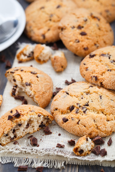 Сток-фото: шоколадом · чипа · Cookies · салфетку
