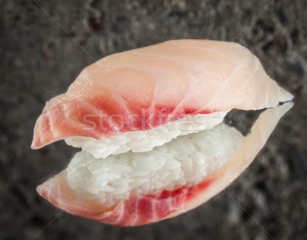 Nigiri sushi with sea bass Stock photo © vankad