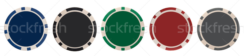 Gioco d'azzardo chip isolato bianco verde Foto d'archivio © vankad