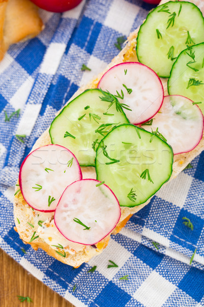 Fresh vegetable sandwich Stock photo © vankad