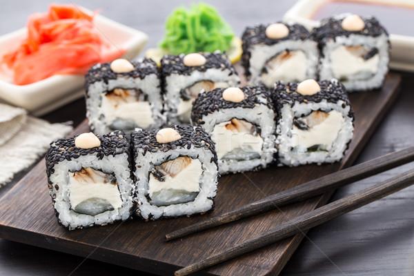 Sushi anguilla alimentare riso Foto d'archivio © vankad