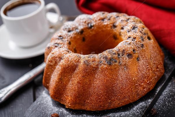 торт изюм черный хлеб ножом Сток-фото © vankad