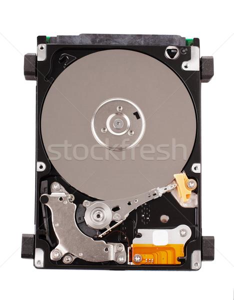 Ouvrir disque dur unité au-dessus blanche ordinateur Photo stock © vankad