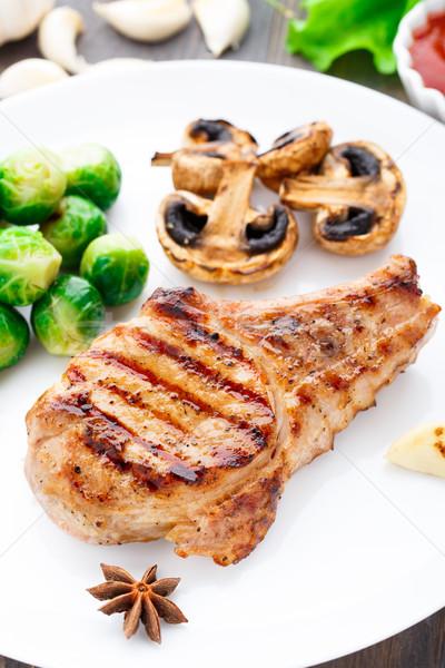 焼き 豚肉 ブリュッセル 食品 ストックフォト © vankad
