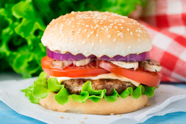 Home made burger Stock photo © vankad