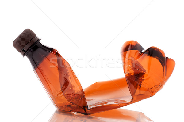 Smashed empty plastic bottle Stock photo © vankad