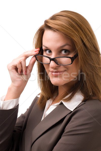 Business woman looking at you Stock photo © vankad
