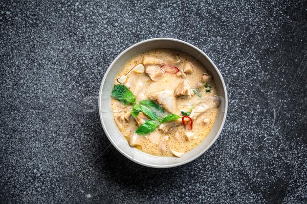 Thai poulet coco soupe texture Rock Photo stock © vankad