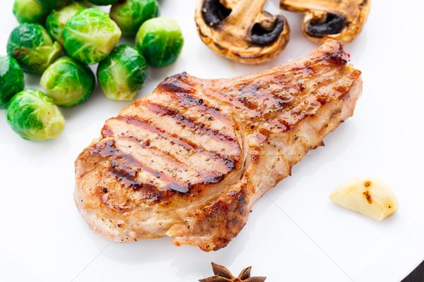 Alla griglia carne di maiale cotoletta Bruxelles alimentare Foto d'archivio © vankad