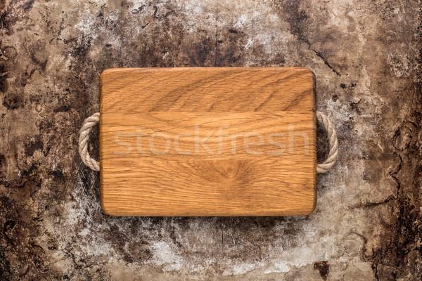 Vágódeszka rusztikus asztal fából készült öreg textúra Stock fotó © vankad
