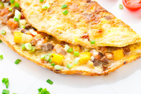 Omelet with diced vegetables Stock photo © vankad