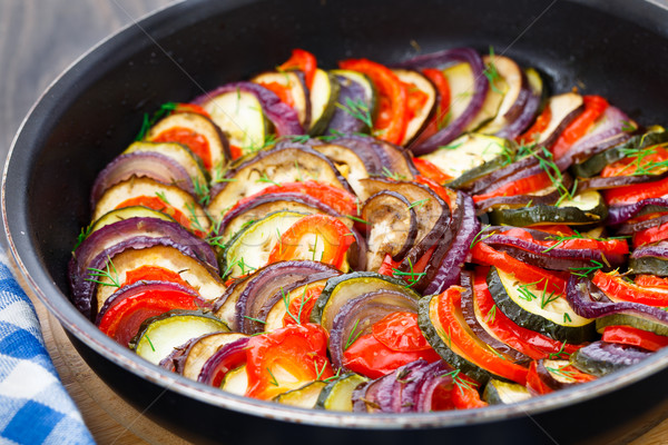 Ratatouille in a pan Stock photo © vankad