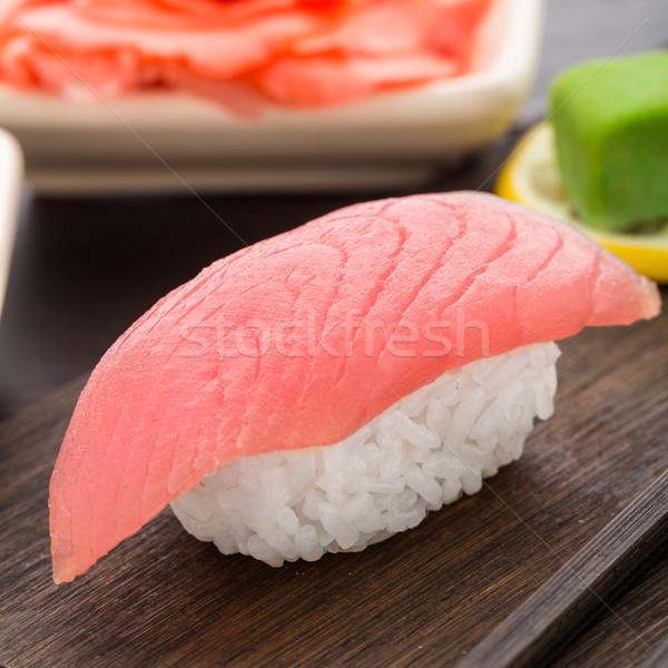 Sushi atún placa alimentos japonés Foto stock © vankad