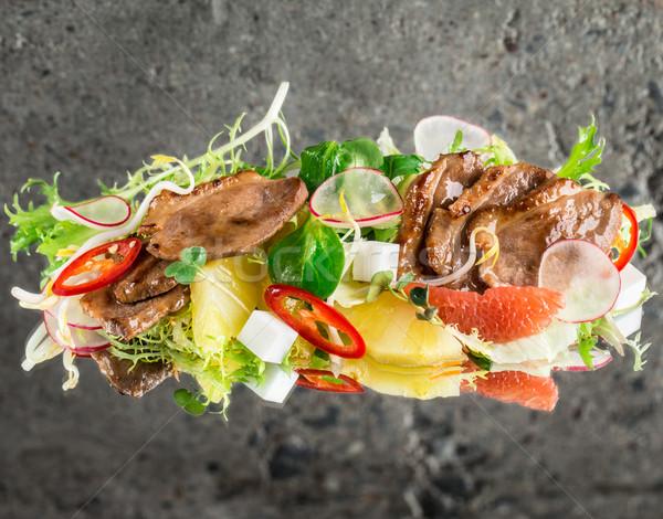утки груди Салат конкретные текстуры продовольствие Сток-фото © vankad