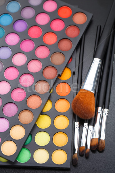 Makeup brushes and shadows Stock photo © vankad