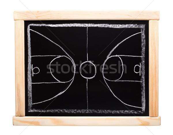 Basket strategia pianificazione lavagna scuola sfondo Foto d'archivio © vankad