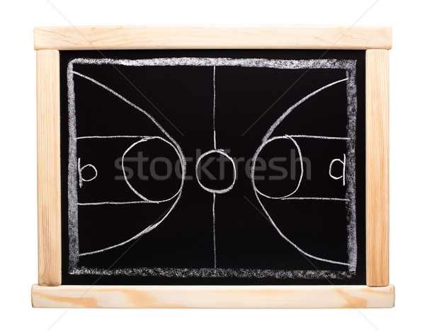 Basketbal strategie planning Blackboard school achtergrond Stockfoto © vankad