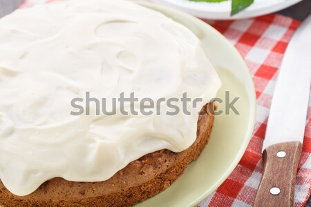 Carrot cake noten kaneel vruchten tabel brood Stockfoto © vankad