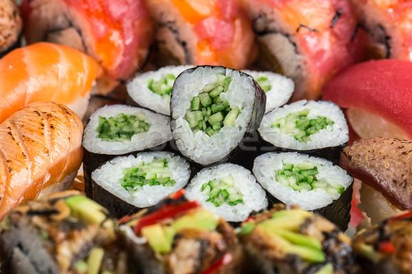 Stock photo: Sushi set close up