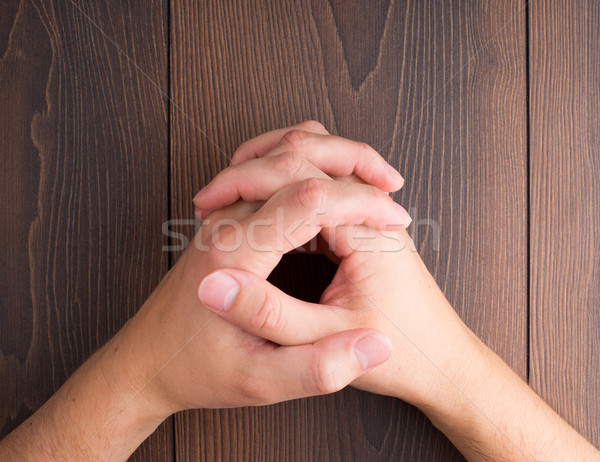Human hands clasped Stock photo © vankad