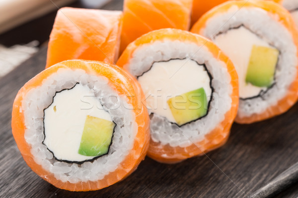 Sushi roll philadelphia Stock photo © vankad