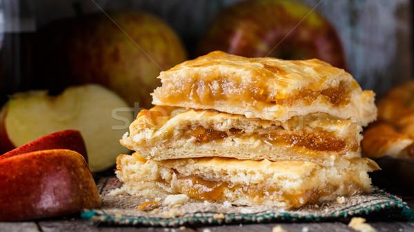 Caseiro torta de maçã delicioso torta recheado fresco Foto stock © vankad