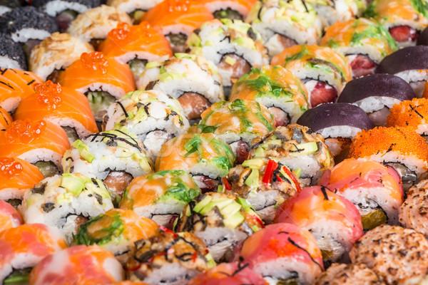 Sushi rolls close up Stock photo © vankad
