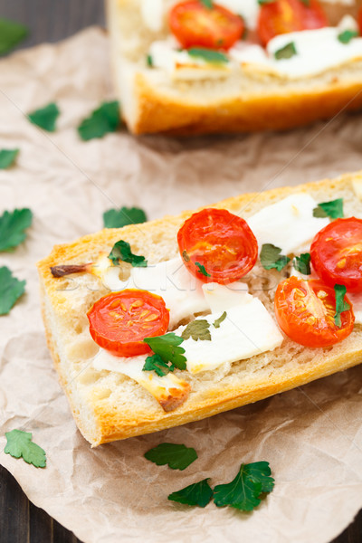 Vegetarian baguette sandwich Stock photo © vankad