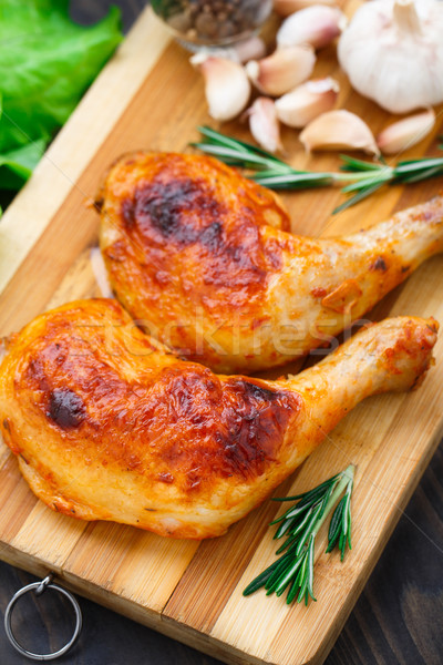 Kip benen rosmarijn voedsel diner Stockfoto © vankad