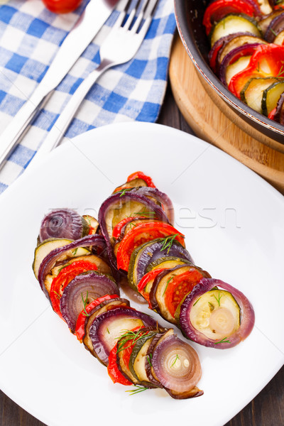 Gotowany żywności obiedzie pomidorów Zdjęcia stock © vankad