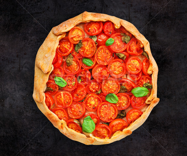 Cherry tomato tart Stock photo © vankad