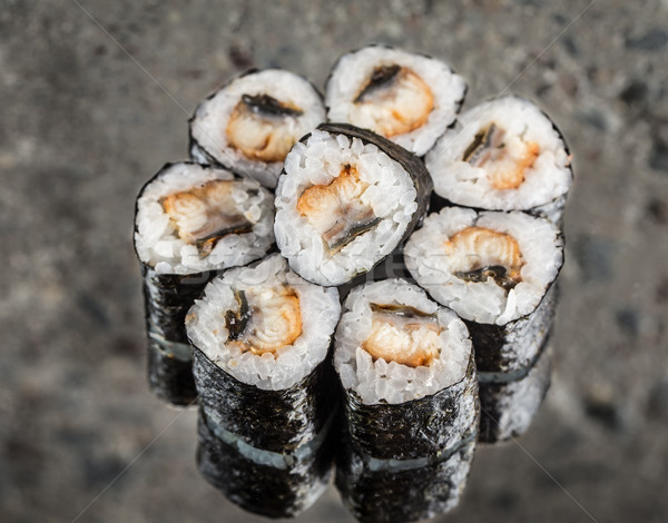 Stock photo: Mini roll with eel