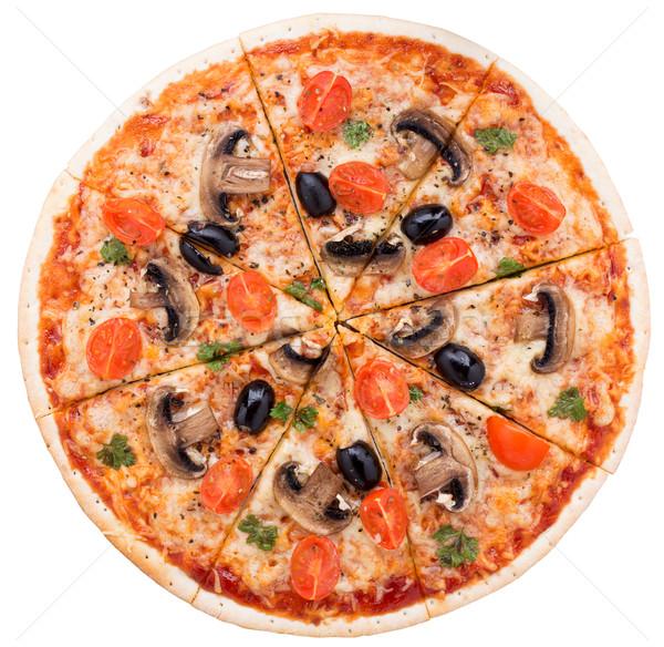 Vegetarian pizza Stock photo © vankad