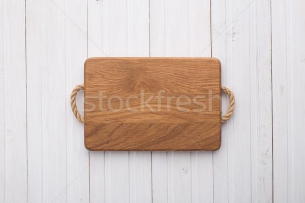 Tagliere bianco tavola tavolo in legno texture legno Foto d'archivio © vankad