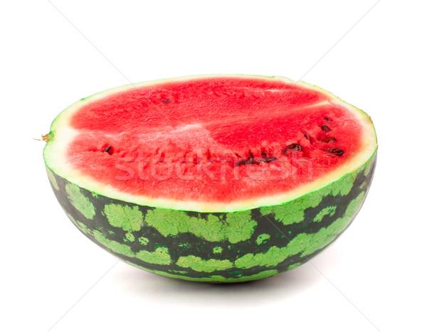 Metade doce melancia branco água fruto Foto stock © vankad