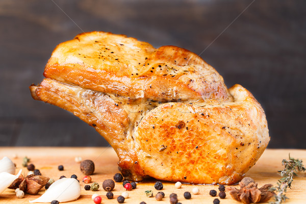 Baked pork rib chop Stock photo © vankad