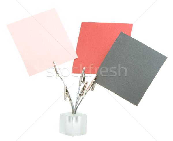 Memorando isolado branco Foto stock © vankad