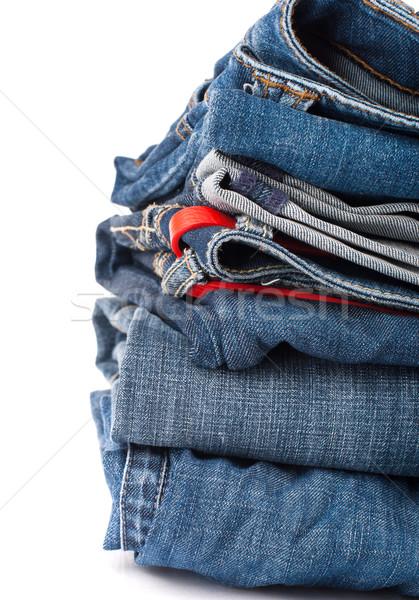 Jeans broek Blauw denim Stockfoto © vankad