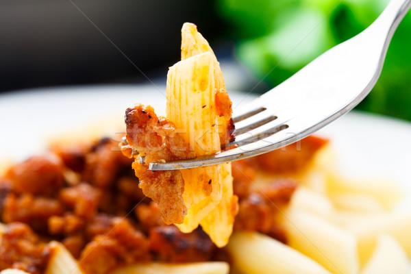 пасты соус болоньезе пластина еды Сток-фото © vankad