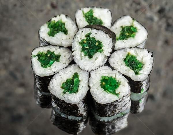 Stock photo: Mini roll with chuka