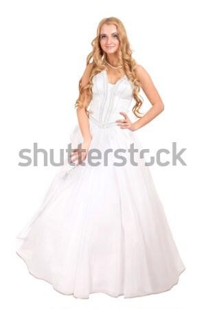 Beautiful bride in wedding dress Stock photo © vankad