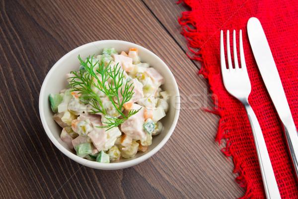 Russian traditional salad Stock photo © vankad