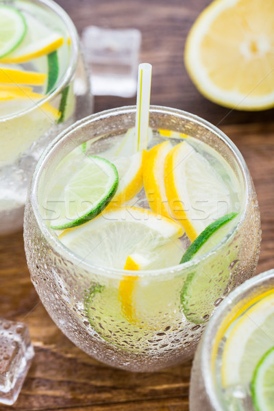 Cold fresh lemonade Stock photo © vankad