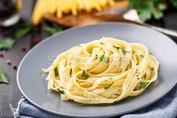 タリアテーレ パセリ 準備 プレート 食品 ディナー ストックフォト © vankad