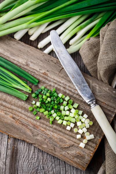 рубленый деревенский продовольствие древесины здоровья Сток-фото © vankad