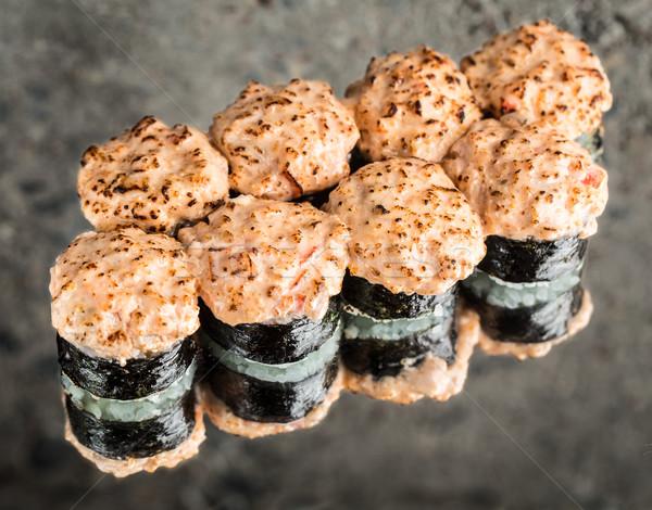 Sushi roll with salmon Stock photo © vankad