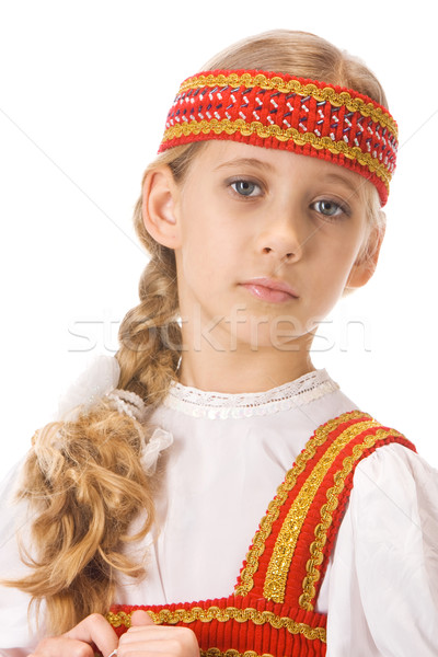Belarussian girl in national dress Stock photo © vankad