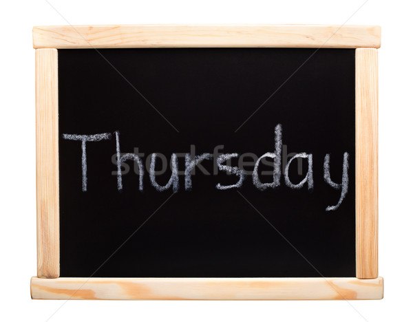 Days of the week: thursday Stock photo © vankad
