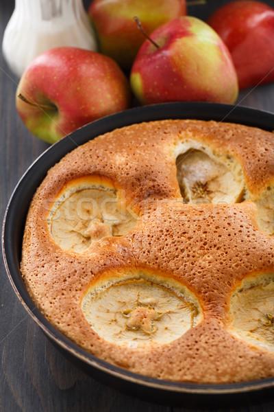Frissen sült almás pite almák étel alma Stock fotó © vankad