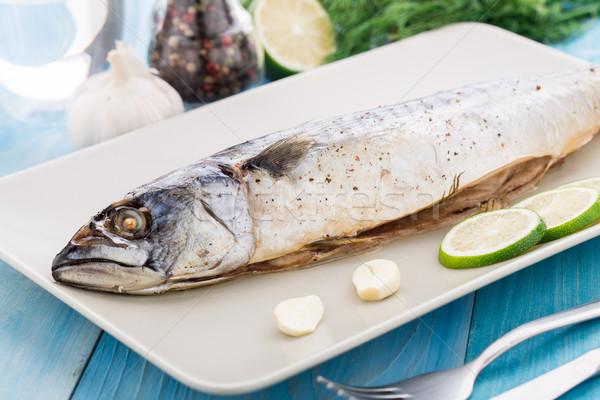 Cavala prato cal alho peixe Foto stock © vankad